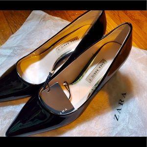 Black Zara Chunky Heels